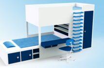 Ein Hochbett im Kinderzimmer eröffnet viele Möglichkeiten.