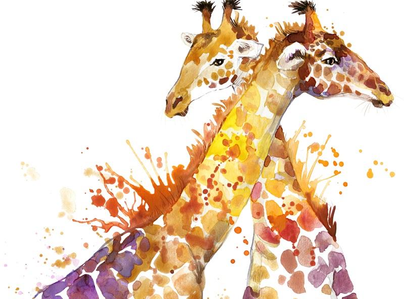 Die Giraffe ist längst zum beliebten Motiv der Fotografie und viele Bilder und Kinderdeko geworden und ziert das Zimmer vieler junger Tierfreunde.
